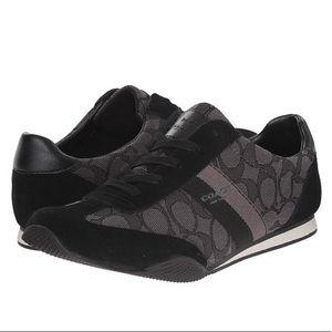 Coach Black & Gray Sneakers Shoes Women's Size 8.5